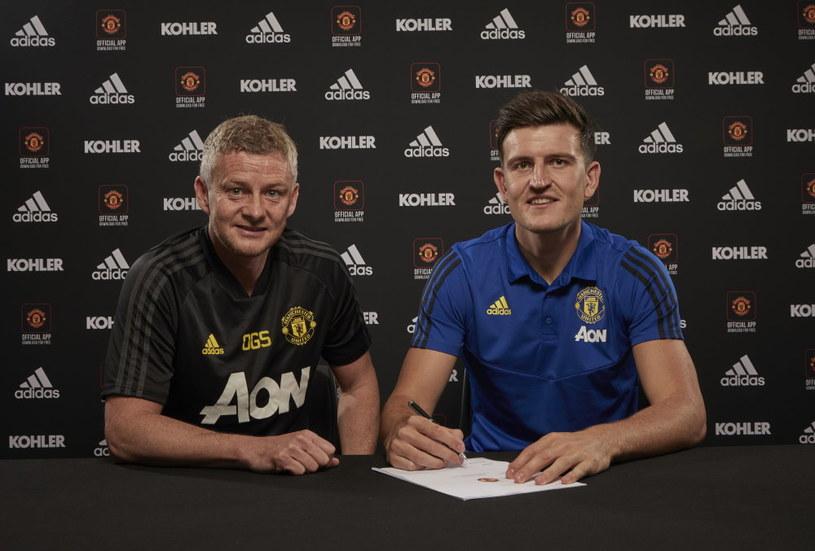 Menedżer Manchesteru United Ole Gunnar Solskjaer i Harry Maguire /Getty Images