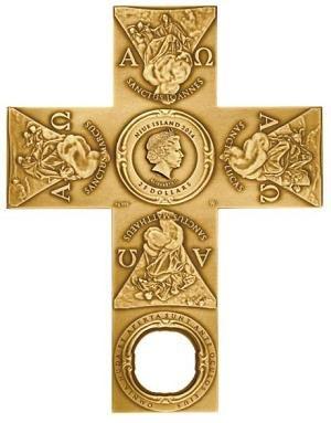 Mennica Polska zaprezentowała wyjątkową monetę okolicznościową w kształcie krzyża /Informacja prasowa