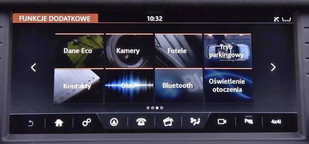 Menu ekranu centralnego okazuje się bardzo przyjazne użytkownikowi. /Motor