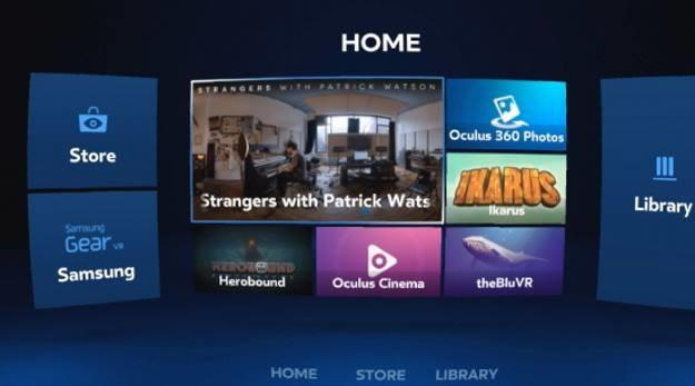 Menu główne Oculus - z jego poziomu pobieramy nowe aplikacje oraz uruchamiamy tego, które już pobraliśmy /materiały prasowe
