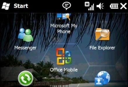 Menu główne w Windows Mobile 6.5 /materiały prasowe