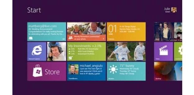 Menu Start - Windows 8 Fot. BusinessInsider.com /vbeta