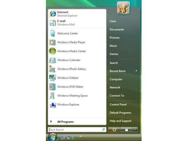 Menu Start - Windows Vista Fot. BusinessInsider.com /vbeta