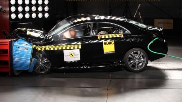 Mercedes CLA w teście zderzeniowym Euro NCAP /Euro NCAP