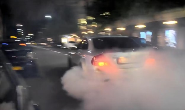 Mercedes CLK63 AMG Black Series w akcji /