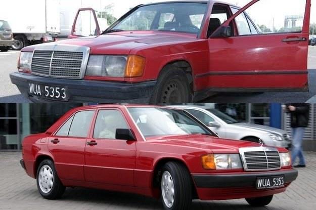 Mercedes przed i po renowacji /
