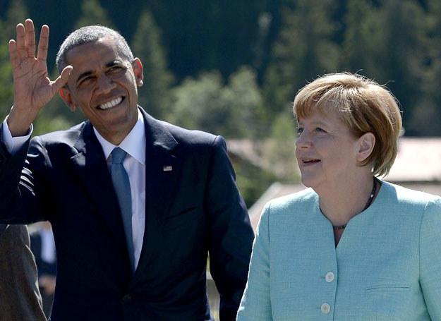 Merkel i Obama podczas szczytu G7 w Bawarii /East News