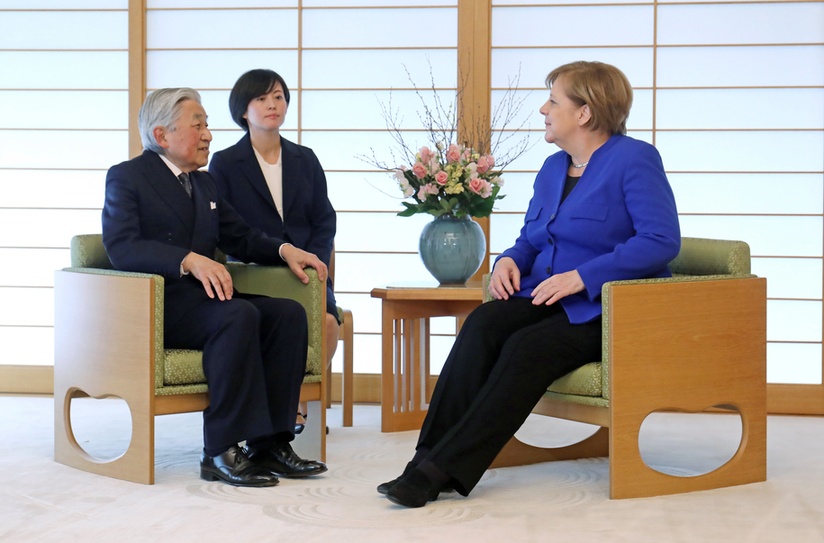 Merkel w Japonii /JIJI PRESS /PAP/EPA