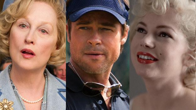 Meryl Streep, Brad Pitt i Michelle Williams. Kto z nich pokusi się w tym roku o Oscara? /materiały prasowe