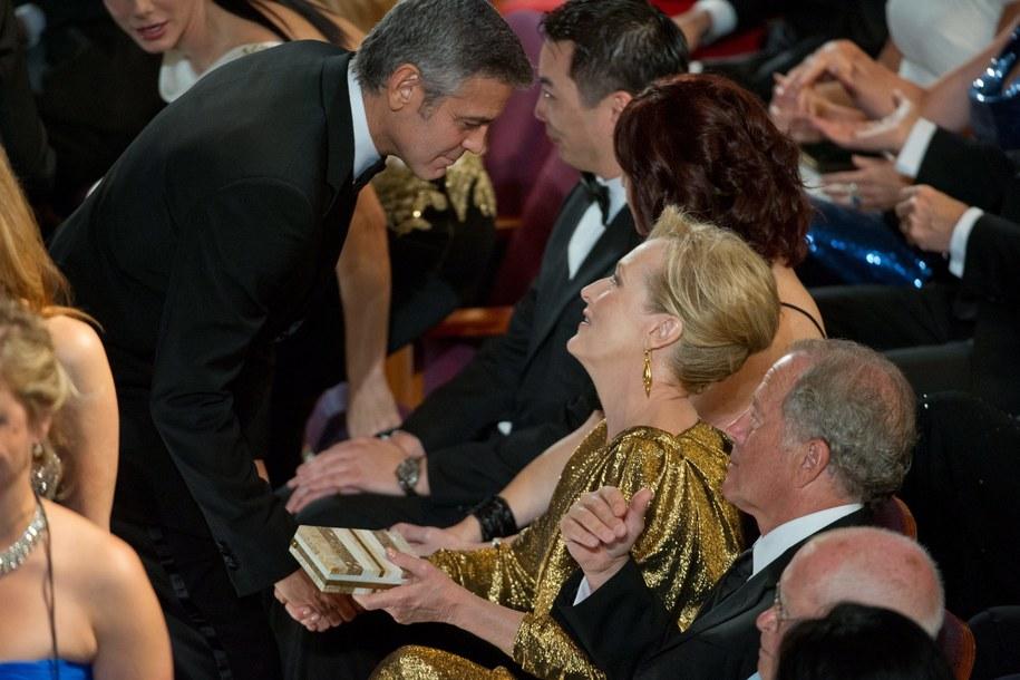 Meryl Streep i George Clooney /MATT PETIT / AMPAS / HO /PAP/EPA