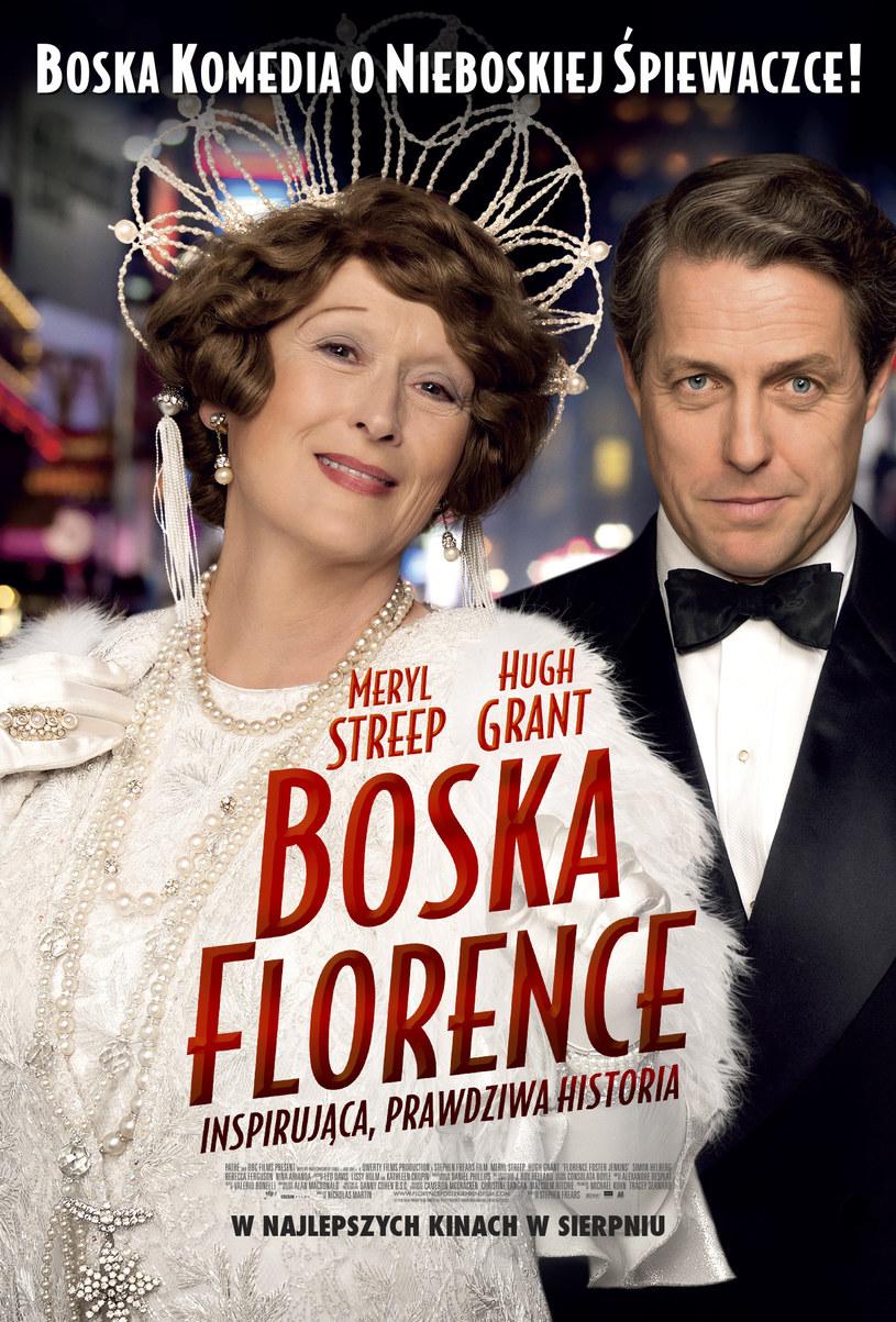 """Meryl Streep i Hugh Grant na plakacie filmu """"Boska Florence"""" /materiały dystrybutora"""