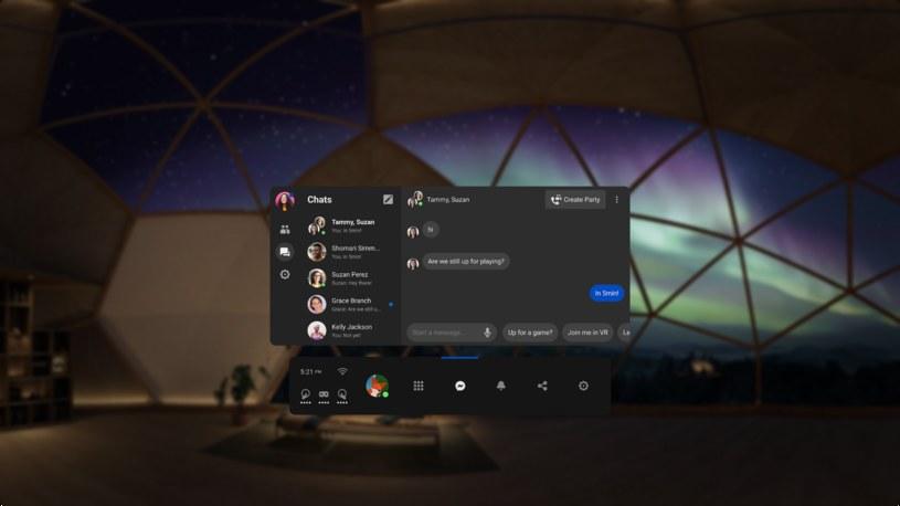 Messenger na platformie Oculus VR /materiały prasowe