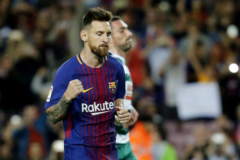 """Messi dziewięcioma golami w pięciu meczach zajął pole position w wyścigu o """"Pichichi"""". Rekordowe 50 bramek zagrożone? /AFP"""