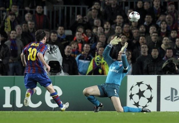 Messi samodzielnie rozprawił się z Arsenalem /AFP