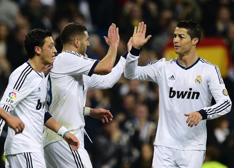 Mesut Oezil, Karim Benzema i Cristiano Ronaldo /AFP