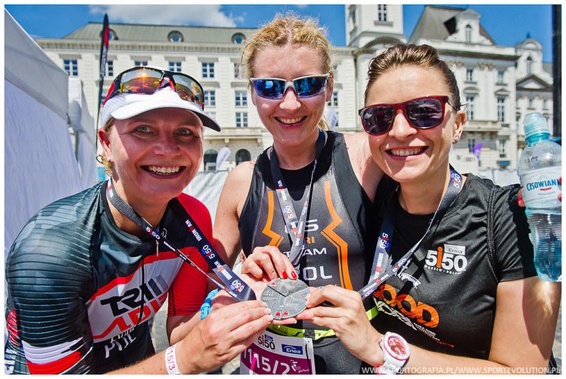 Meta prestiżowych zawodów triathlonowych Enea 5150 Warsaw /www.sportografia.pl/www.sportevolution.pl /