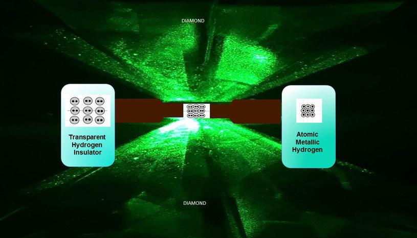 Metaliczny wodór powstaje w diamentowym imadle /materiały prasowe