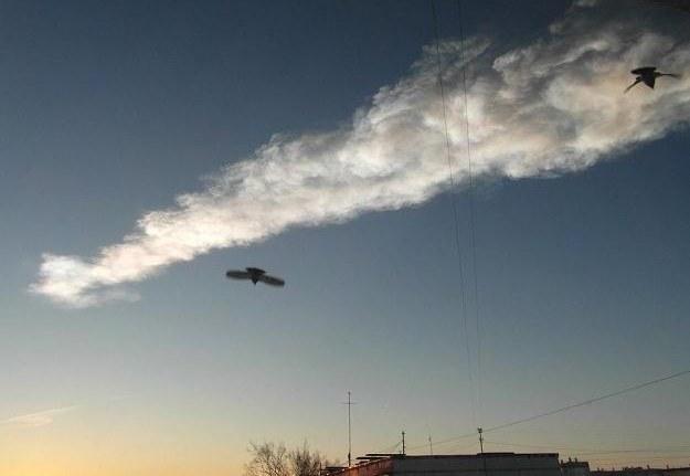 Meteoryt nad Czelabińskiem.   Fot. Ria Novosti /East News
