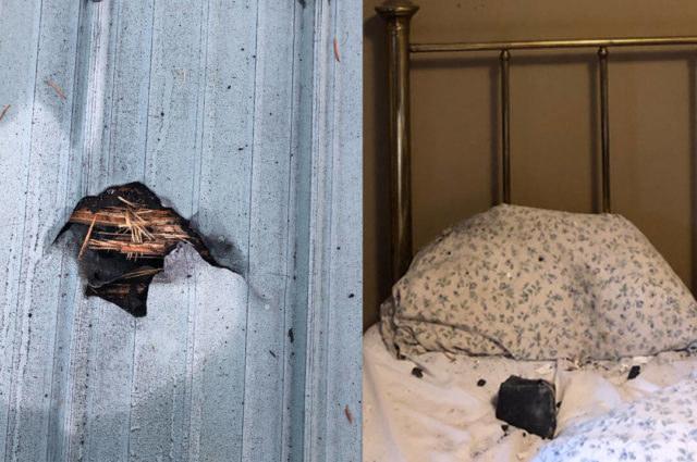Meteoryt spadł obok głowy kobiety /foto. Ruth Hamilton/Facebook /facebook.com