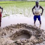 Meteoryt wielkości piłki spadł na pole w Indiach