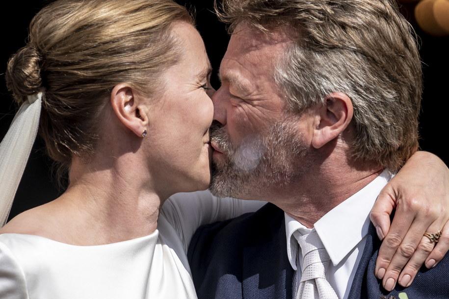 Mette Frederiksen z mężem Bo Tengbergiem /Mads Claus Rasmussen /PAP/EPA