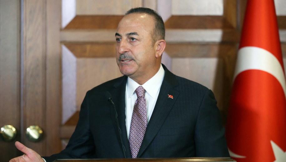 Mevlut Cavusoglu /TURKISH FOREIGN MINISTRY PRESS OFFICE /PAP/EPA