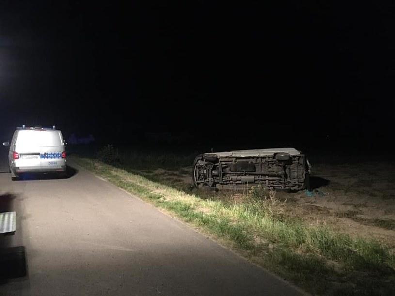 Mężczyzna dziś wieczorem nie zatrzymał się do kontroli drogowej w miejscowości Gąsiory gm. Ulan Majorat /Lubelska Policja /materiały prasowe