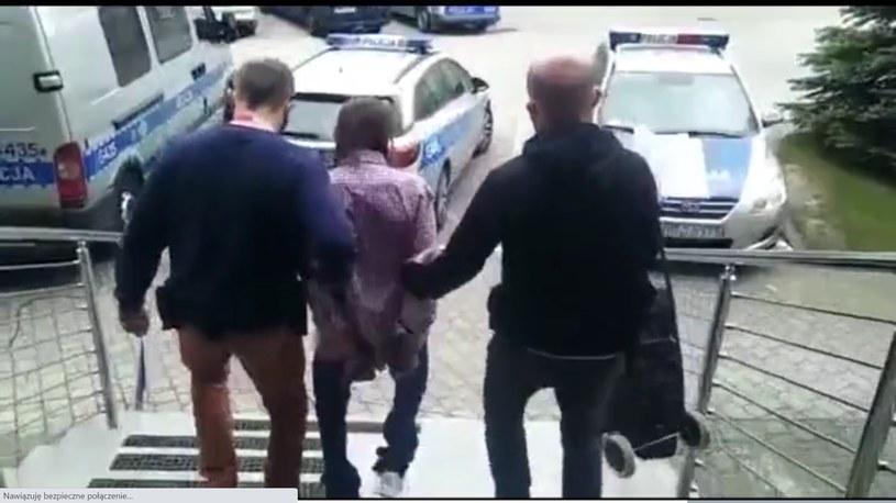 Mężczyzna, który atakował dzieci, trafił na trzy miesiące do aresztu /Komenda Powiatowa Policji w Chrzanowie /Polsatnews.pl