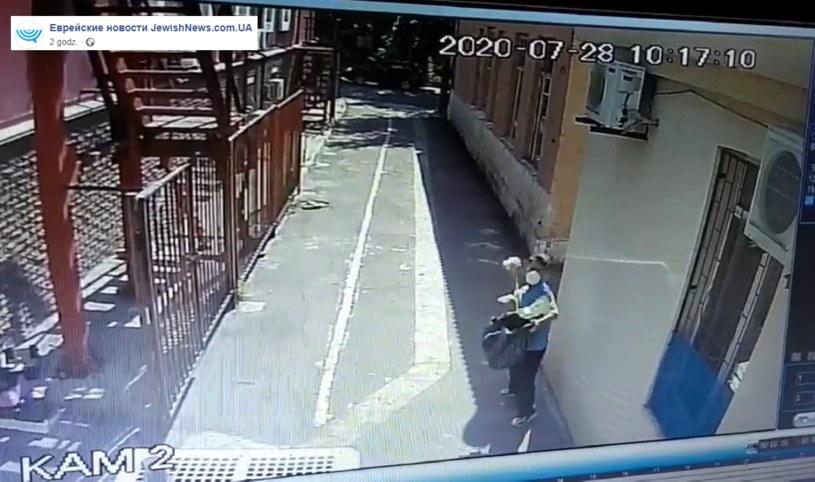 Mężczyzna, który dokonał ataku w synagodze /JewishNews.com.UA /facebook.com