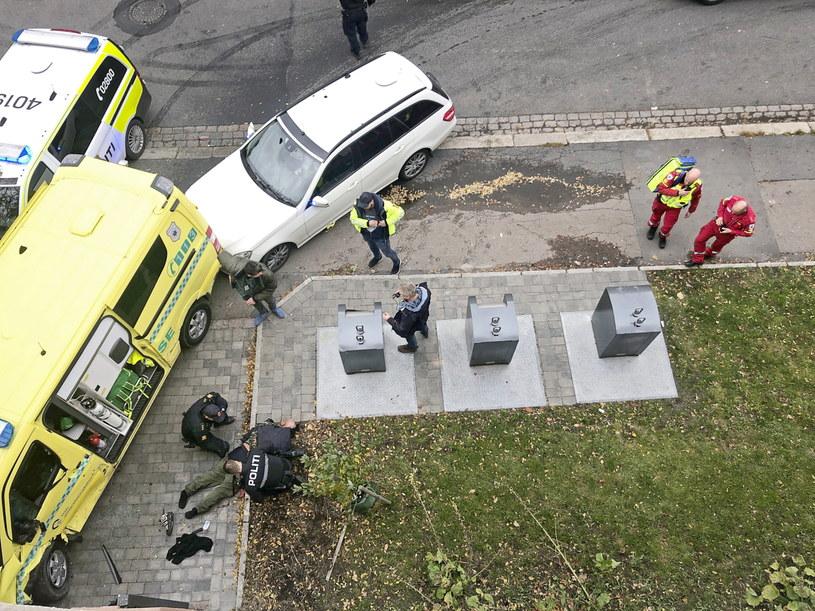 Mężczyzna, który ukradł karetkę w Oslo, został aresztowany przez policję. /CATHRINE HELLESOY/AFTENPOSTEN /PAP/EPA