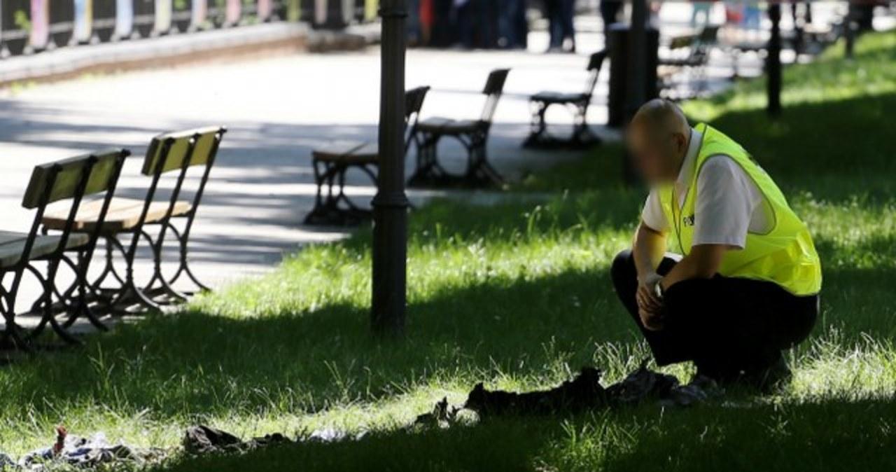 Mężczyzna podpalił się przed kancelarią premiera