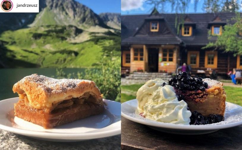 Mężczyzna zjadł szarlotki we wszystkich tatrzańskich schroniskach i wybrał najlepszą /Instagram / jandrzeusz /Instagram