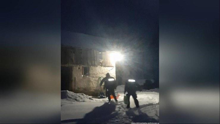 Mężczyzna został uwięziony we własnym domu /Policja Dolnośląska /Policja