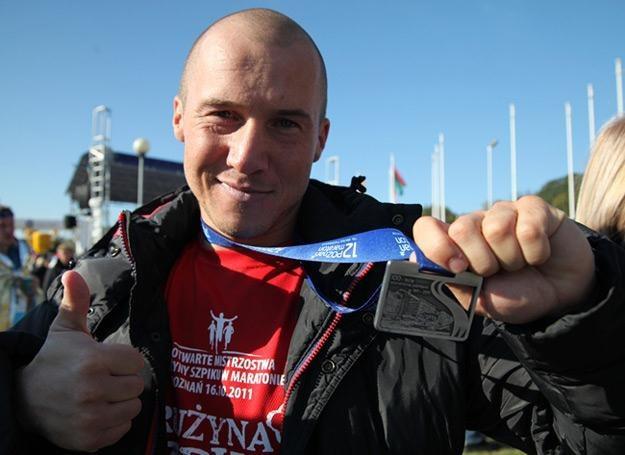 Mezo na mecie poznańskiego maratonu - fot. DJ Skill /My Music