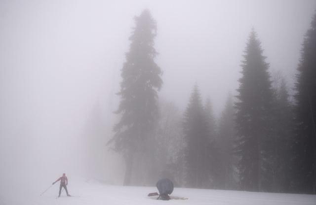 Mgła w Soczi może przeszkodzić w skokach narciarskich /Hendrik Schmidt /PAP/EPA
