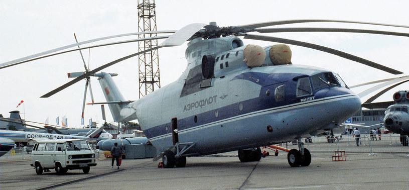 Mi-26 w barwach radzieckiego Aerofłotu na wystawie w Berlinie w 1992 roku /Miłosz Rusiecki /Muzeum Ratownictwa w Krakowie