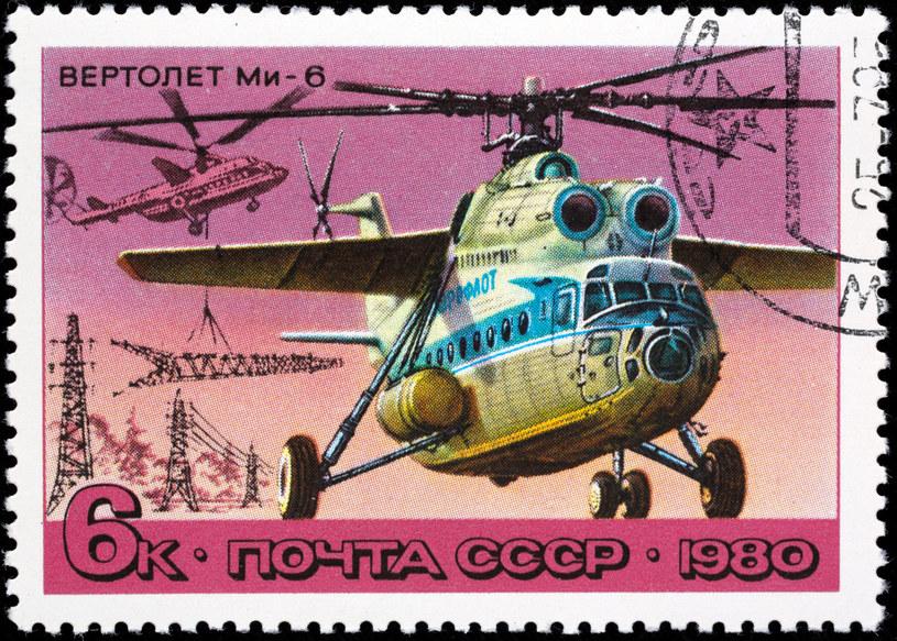 Mi-6 na radzieckim znaczku pocztowym z 1980 roku /East News