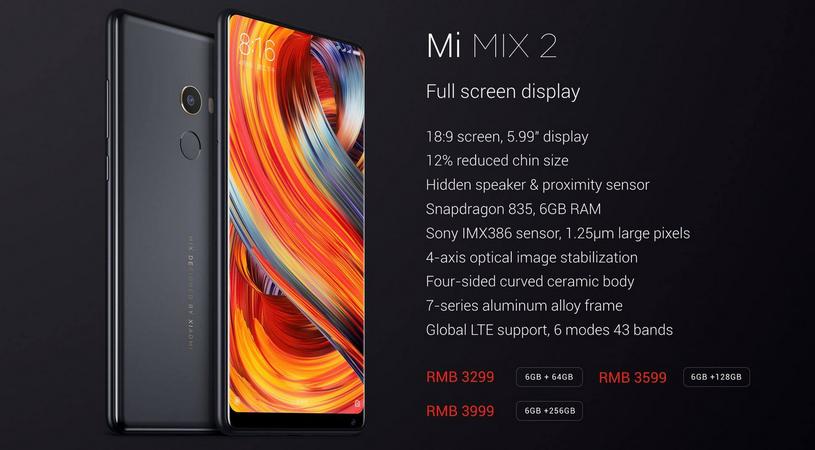 Mi Mix 2 - specyfikacja /materiały prasowe