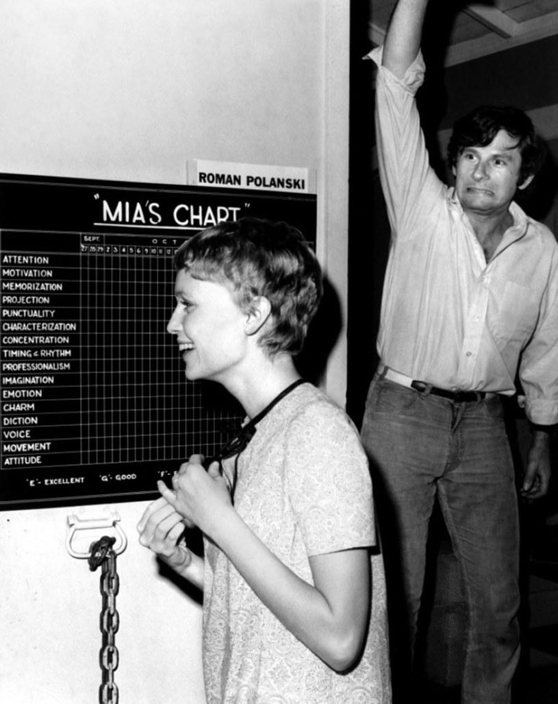 "Mia Farrow i Roman Polański na planie ""Dziecka Rosemary"" /Collection Christophel / William Castle Productions /East News"
