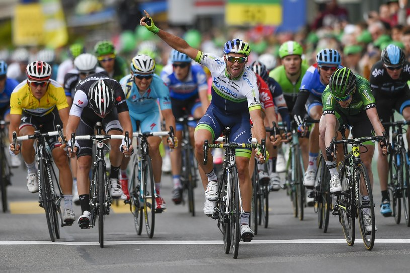 Michael Albasini na finiszu 2. etapu Tour de Romandie /AFP
