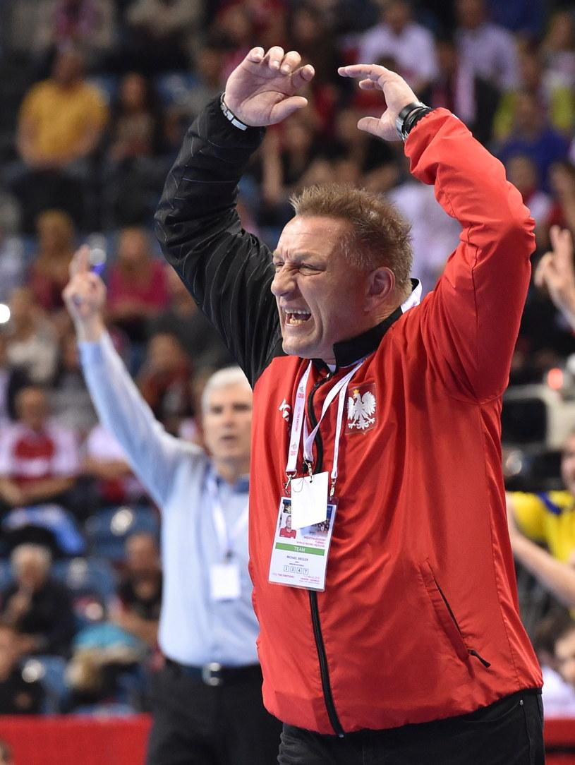 Michael Biegler podczas sobotniego meczu /Jacek Bednarczyk /PAP