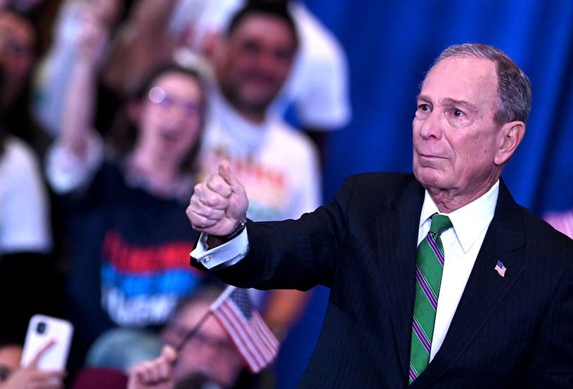 Michael Bloomberg wspiera Joe Bidena /JOHANNES EISELE /AFP