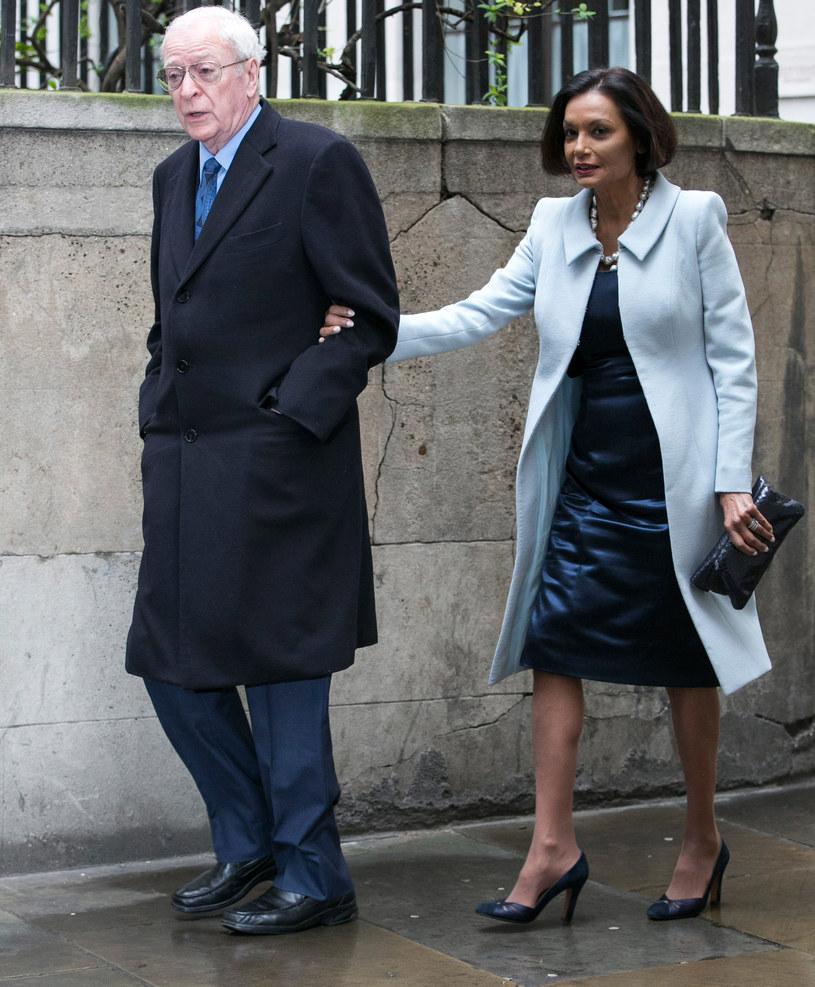 Michael Caine z żoną Shakirą /Getty Images