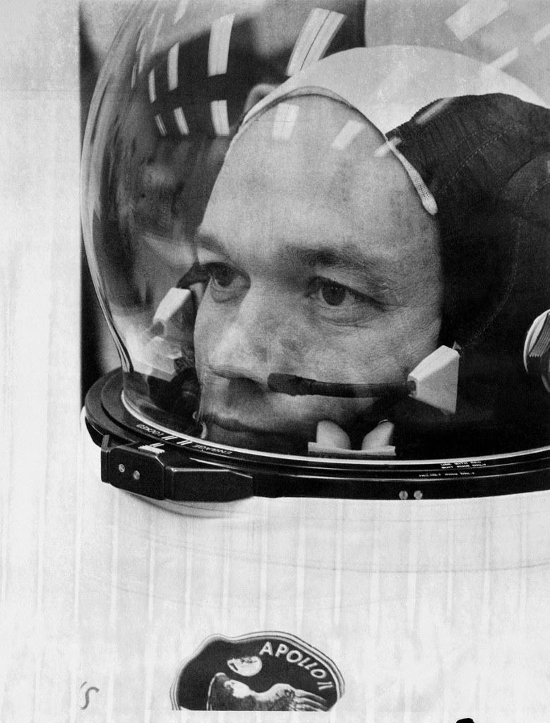 Michael Collins przed startem misji Apollo 11 w 1969 roku /AFP