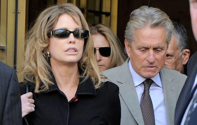 Michael Douglas z byłą żoną, fot. Jemal Countess  /Getty Images/Flash Press Media