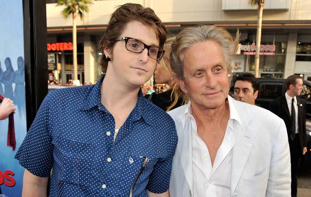 Michael Douglas z synem /Kevin Winter /Getty Images
