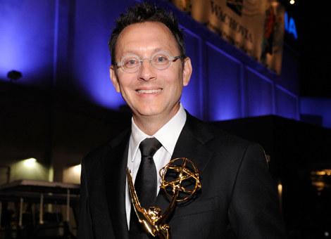 Michael Emerson ze Złotym Globem /Kevork Djansezian /Getty Images/Flash Press Media
