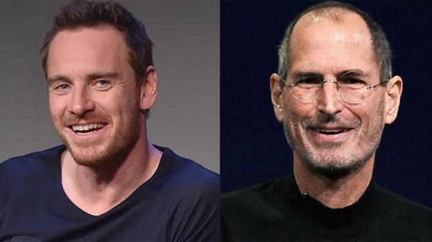 Michael Fassbender (L) założy czarny golf Steve'a Jobsa (P)? /Getty Images