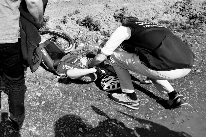 Michael Goolaerts zasłabł w trakcie wyścigu /AFP