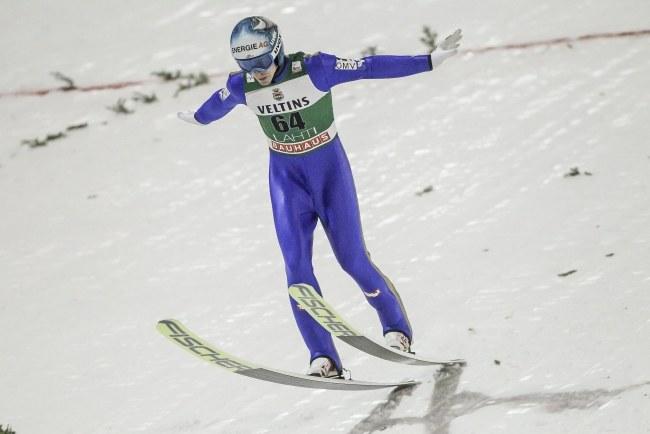 Michael Hayboeck na skoczni w Lahti /AFP